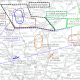 Map showing the proposed holding stack location, arrival routes into the stack and approach routes to London Luton airport.